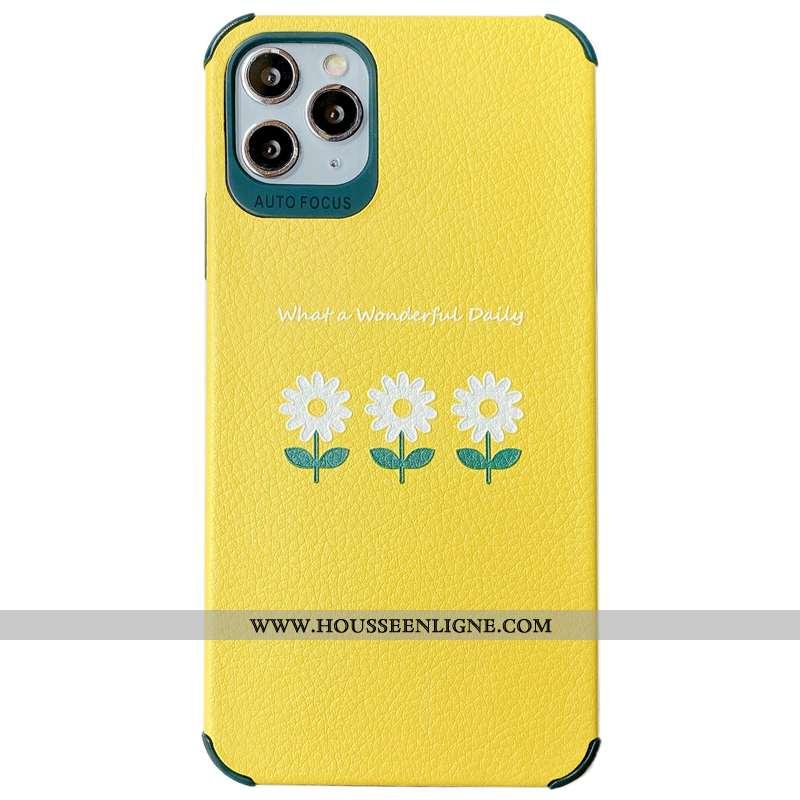 Étui iPhone 11 Pro Max Créatif Modèle Fleurie Tout Compris Vent Fluide Doux Soie Mulberry Personnali