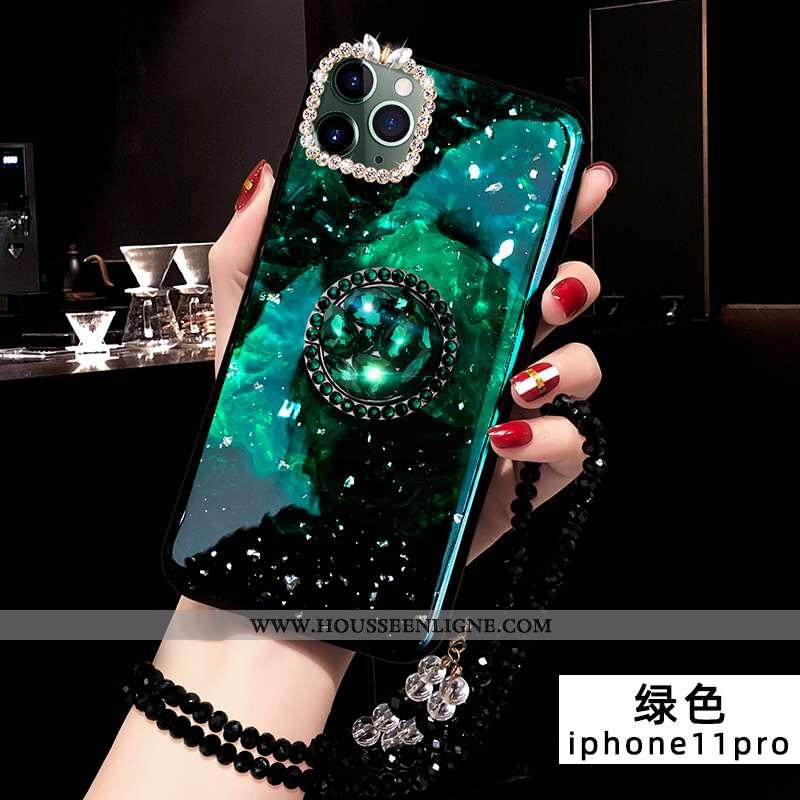 Étui iPhone 11 Pro Mode Protection Tendance Créatif Silicone Vert Coque Verte