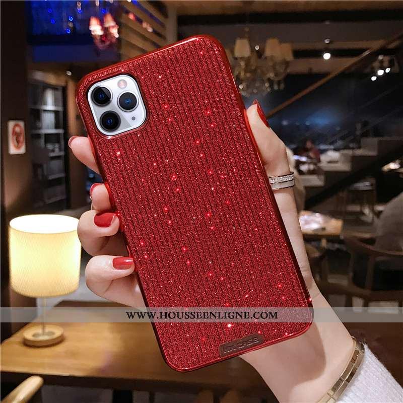 Étui iPhone 11 Pro Tendance Silicone Incassable Vent Téléphone Portable Rouge Clair