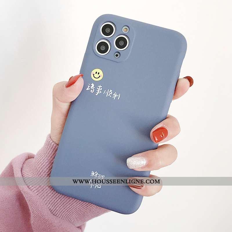 Étui iPhone 11 Pro Ultra Tendance Net Rouge Téléphone Portable Tout Compris Protection Légère Bleu