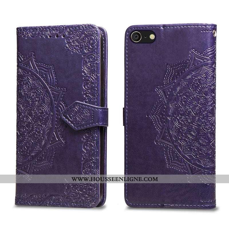 Étui iPhone 6/6s Cuir Personnalité Coque Housse Violet Simple