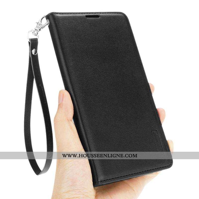 Étui iPhone 6/6s Fluide Doux Protection Membrane Clamshell Noir Cuir