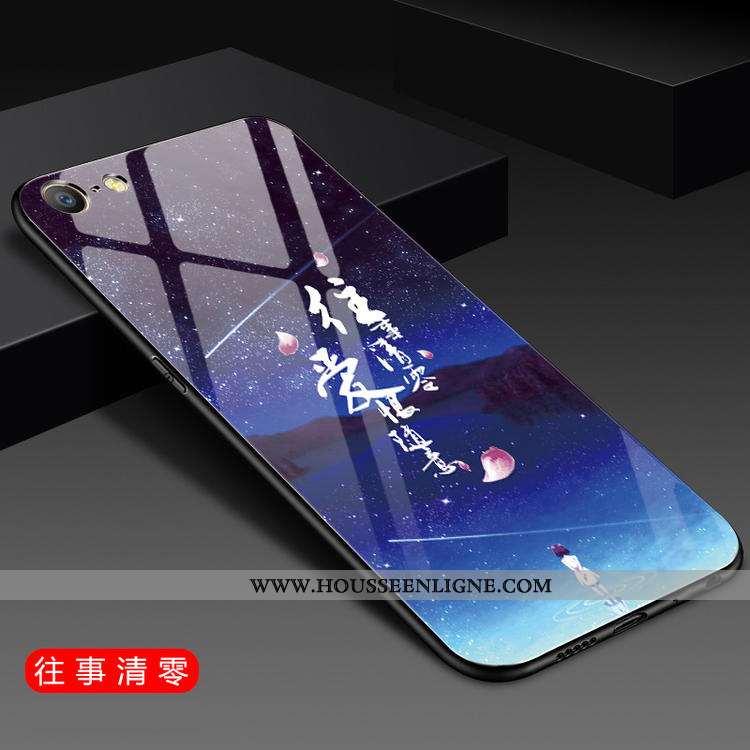Étui iPhone 6/6s Fluide Doux Silicone Net Rouge Protection Incassable Simple Bleu