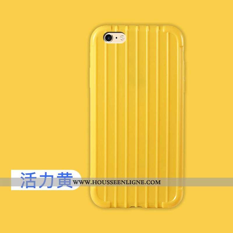 Étui iPhone 6/6s Légère Fluide Doux Protection Jaune Mode Ultra