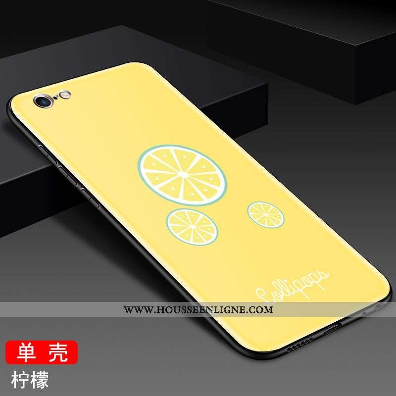 Étui iPhone 6/6s Mode Protection Téléphone Portable Incassable Jaune Personnalité Miroir