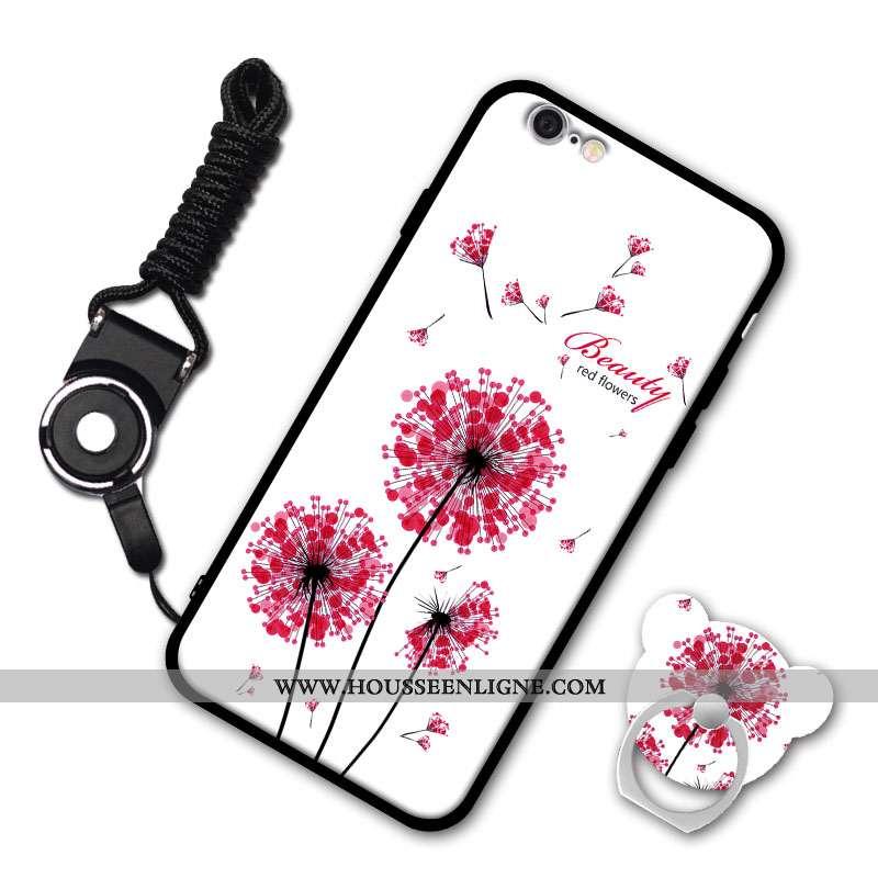 Étui iPhone 6/6s Personnalité Coque Téléphone Portable Bordure Tout Compris Incassable Blanche