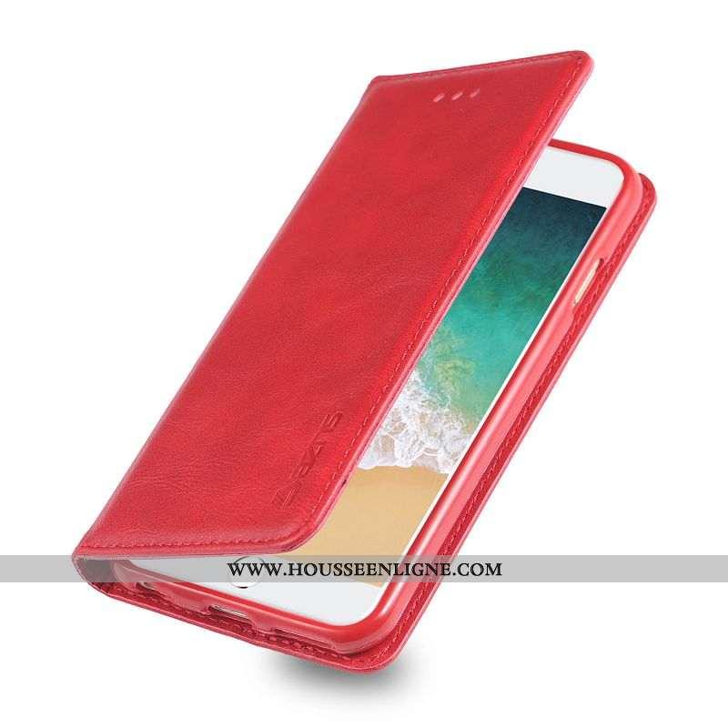Étui iPhone 6/6s Plus Portefeuille Protection Carte Coque Téléphone Portable Nouveau Rouge