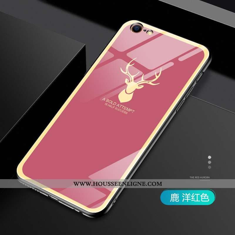 Étui iPhone 6/6s Plus Protection Verre Cerf Personnalité Net Rouge Fluide Doux Tendance