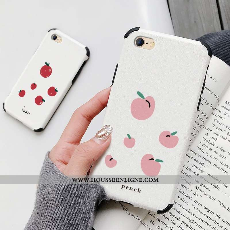Étui iPhone 6/6s Plus Silicone Mode Téléphone Portable Petit Frais Modèle Fleurie Citron Blanche