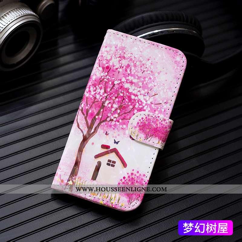 Étui iPhone 6/6s Portefeuille Cuir Tout Compris Carte Protection Coque Rose