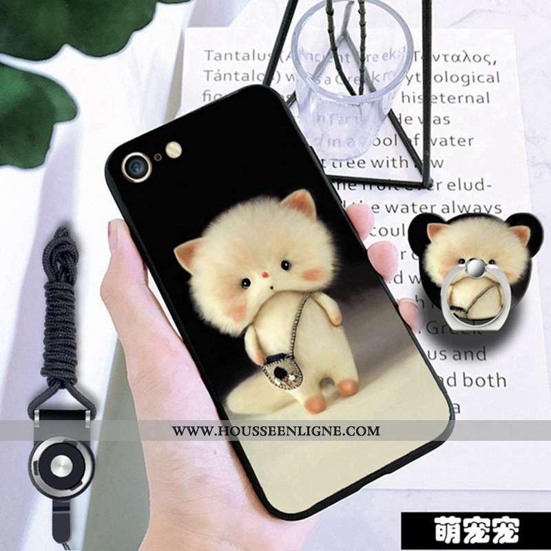 Étui iPhone 6/6s Protection Fluide Doux Incassable Téléphone Portable Noir Coque