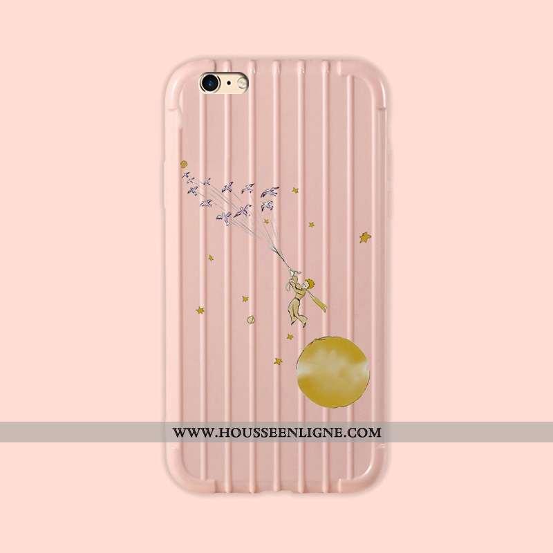 Étui iPhone 6/6s Protection Personnalité Petit Tout Compris Peinture Fluide Doux Simple Rose