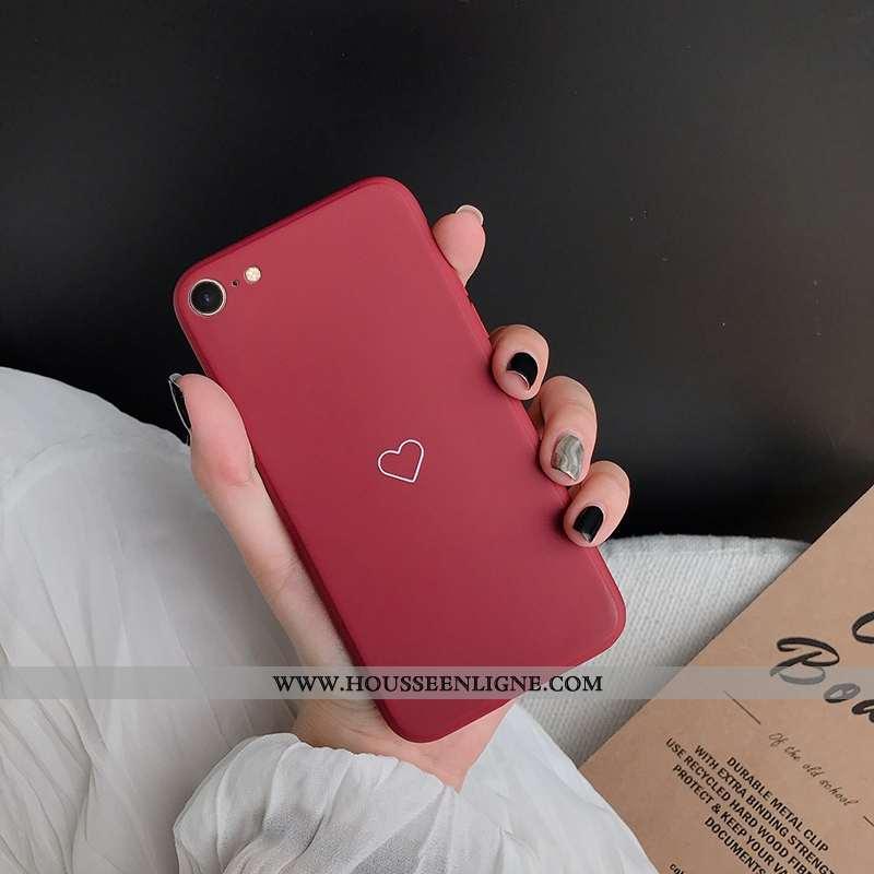 Étui iPhone 6/6s Silicone Personnalité Rouge Souriant Téléphone Portable Incassable