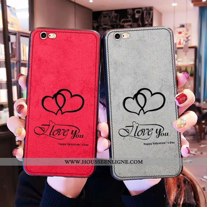 Étui iPhone 6/6s Tendance Légère Net Rouge Tout Compris Rouge Modèle Fleurie Mode