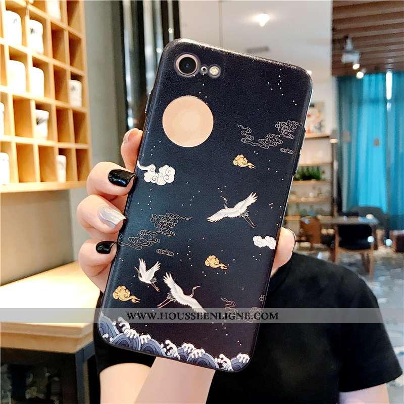 Étui iPhone 7 Mode Protection Coque Style Chinois Noir Tendance