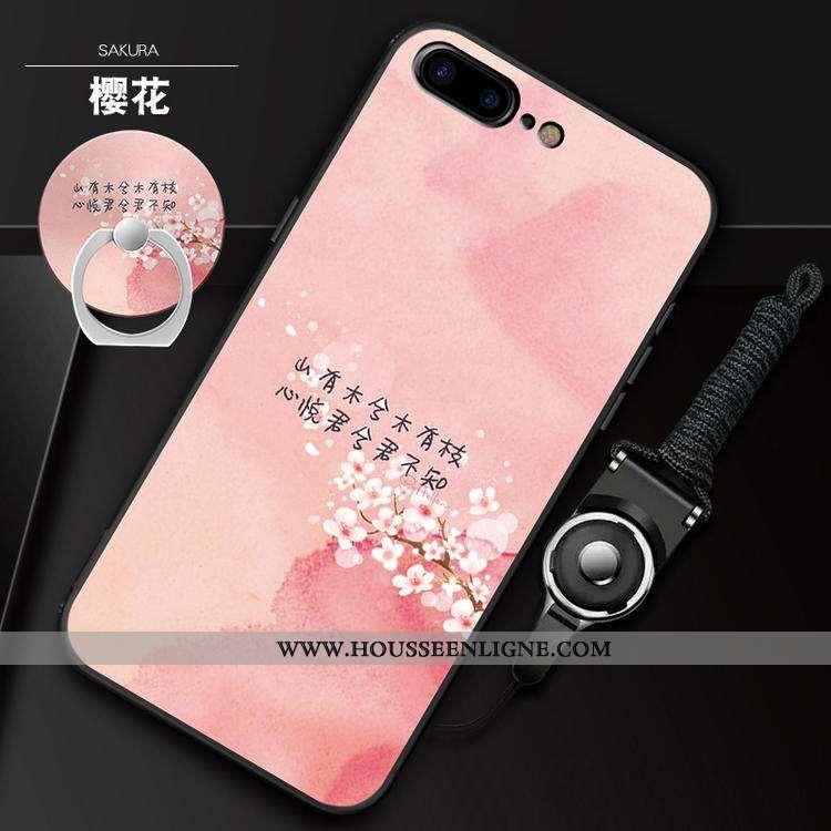 Étui iPhone 7 Plus Ornements Suspendus Charmant Fluide Doux Rose Téléphone Portable Coque