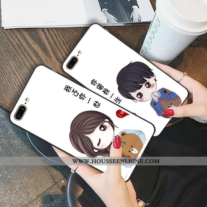 Étui iPhone 7 Plus Ornements Suspendus Dessin Animé Téléphone Portable Tendance Charmant Silicone Bl