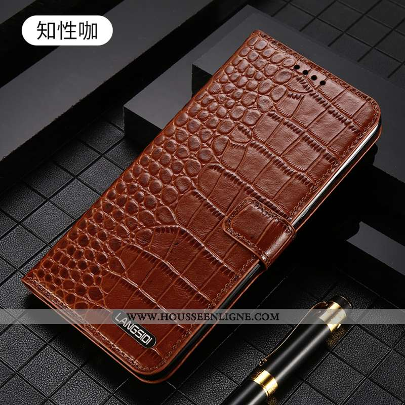 Étui iPhone 7 Plus Protection Luxe Luxe Cuir Clamshell Carte Marron