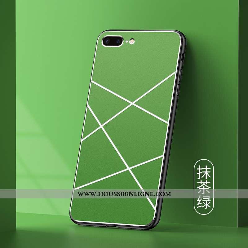 Étui iPhone 7 Plus Protection Métal Mode Pu Téléphone Portable Tendance Verte
