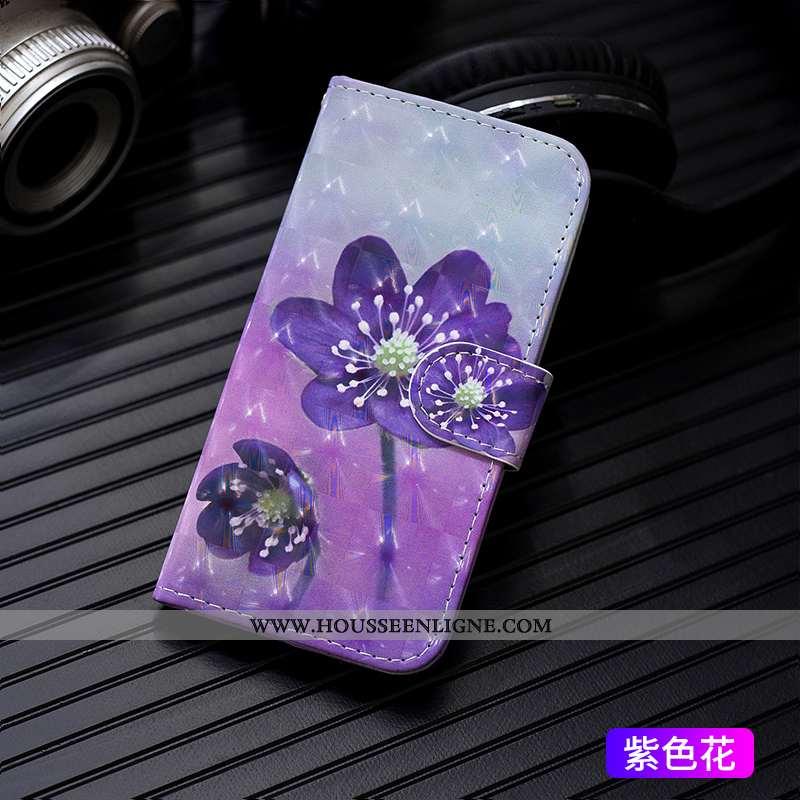 Étui iPhone 7 Plus Protection Tendance Coque Clamshell Pu Violet Carte