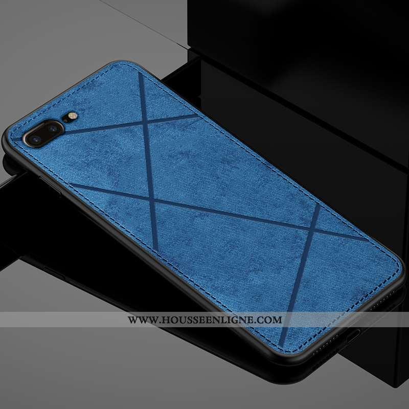 Étui iPhone 7 Plus Protection Ultra Tout Compris Modèle Fleurie Antidérapant Tissu Incassable Bleu