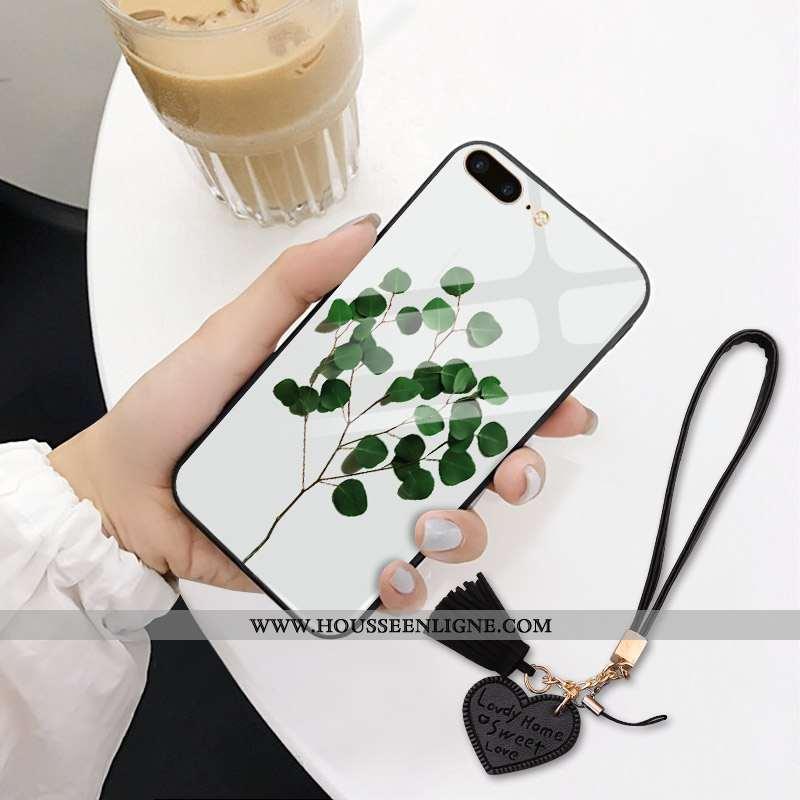 Étui iPhone 7 Plus Verre Tendance Téléphone Portable 2020 Nouveau Amoureux Pu Blanche