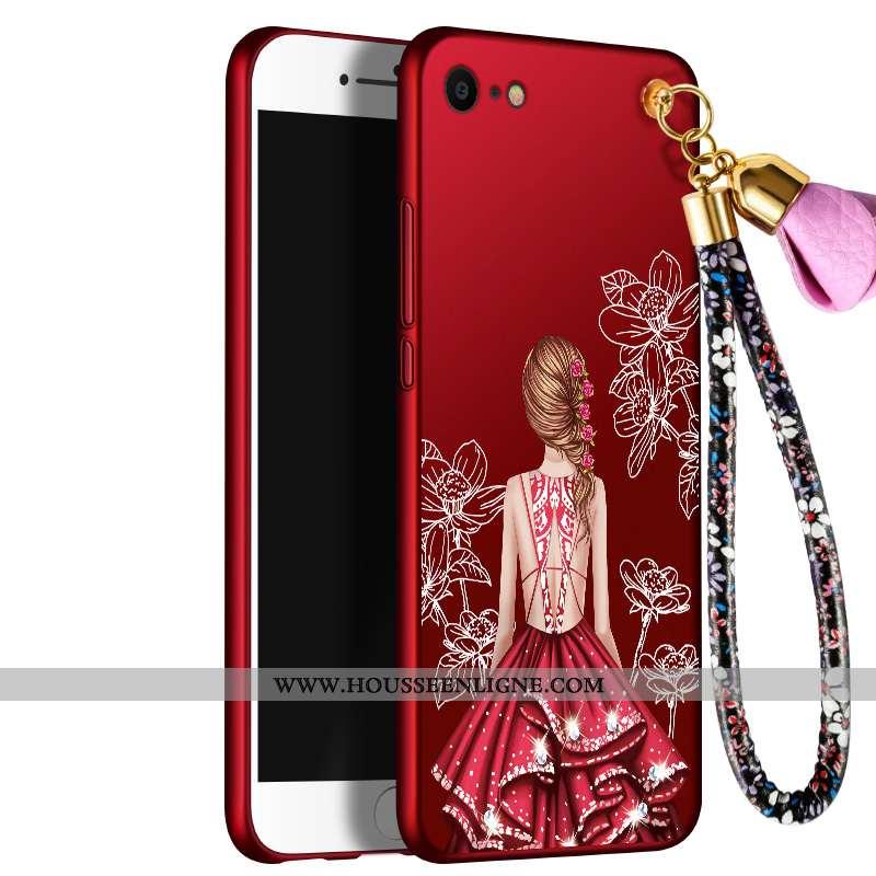 Étui iPhone 7 Tendance Silicone Créatif Incassable Tout Compris Personnalité Rouge
