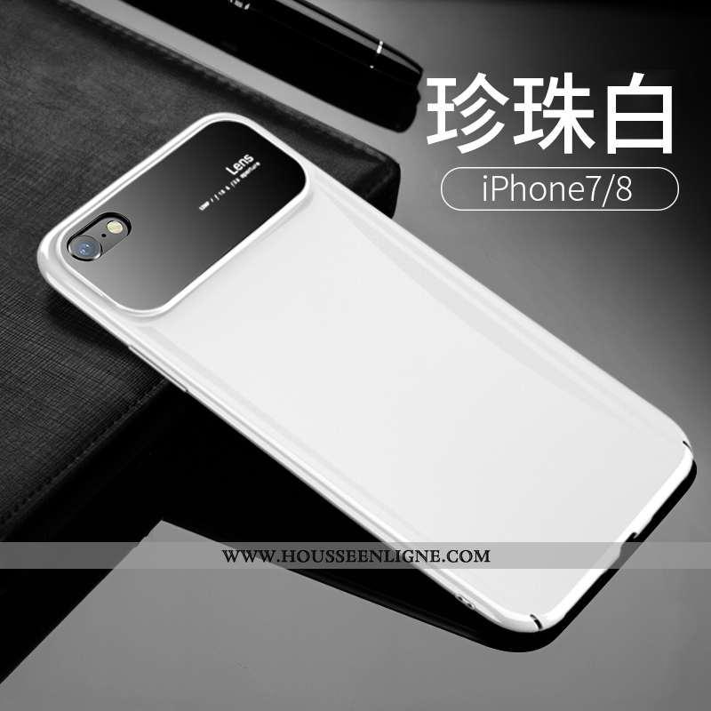Étui iPhone 7 Transparent Personnalité Blanc Incassable Tout Compris Verre Créatif Blanche