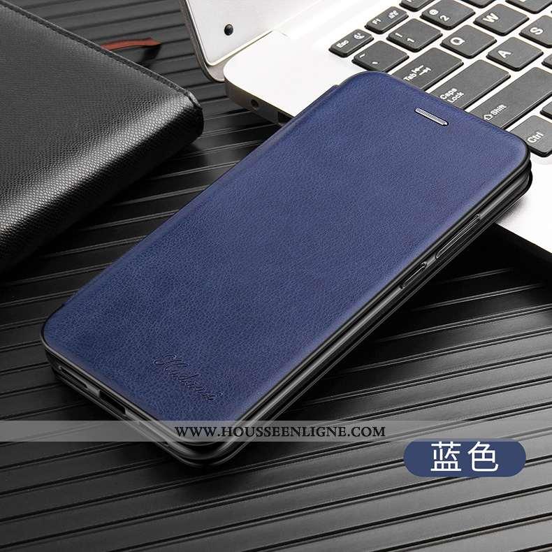 Étui iPhone 7 Ultra Légère Coque Pu Protection Silicone Cuir Bleu