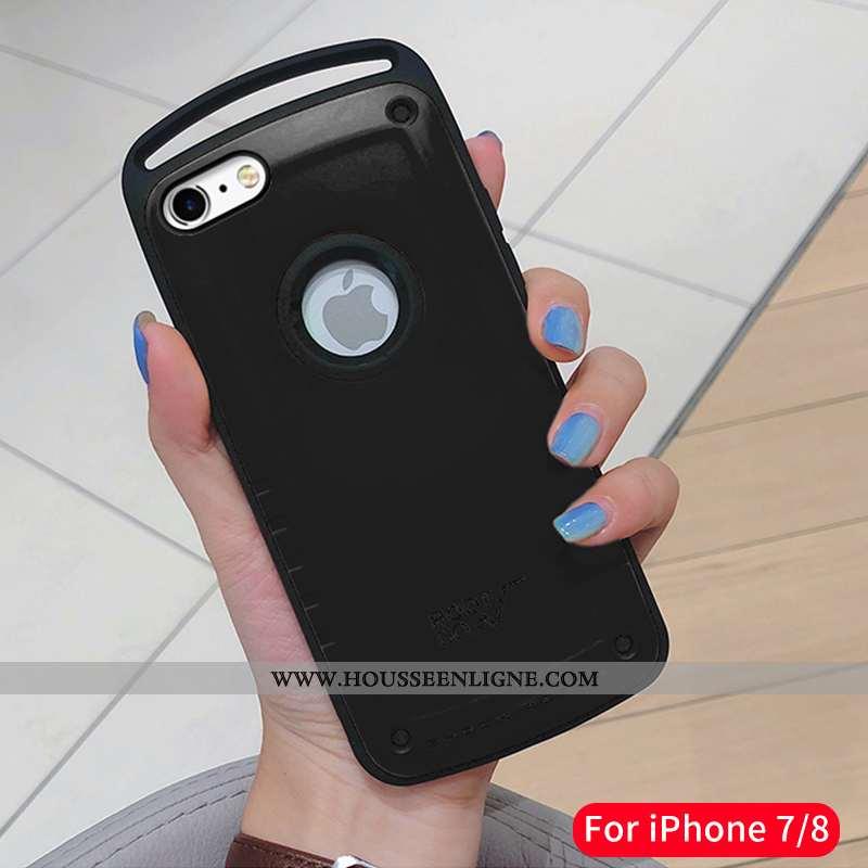 Étui iPhone 7 Ultra Tendance Luxe Net Rouge Coque Nouveau Silicone Noir