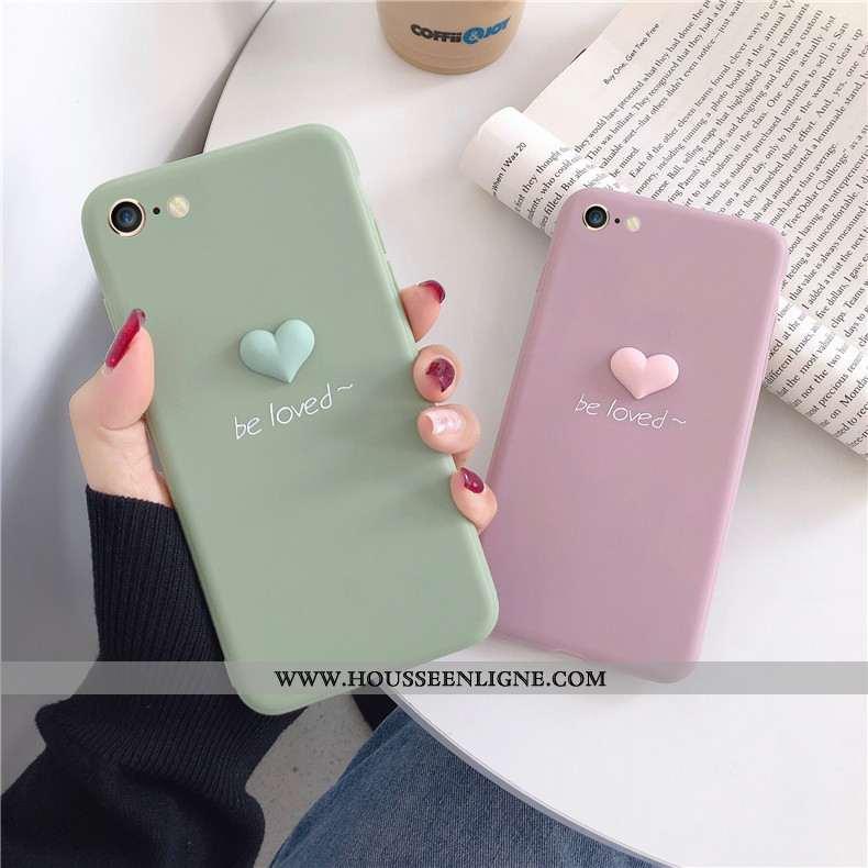Étui iPhone 8 Fluide Doux Mode Amour Incassable Rose Téléphone Portable