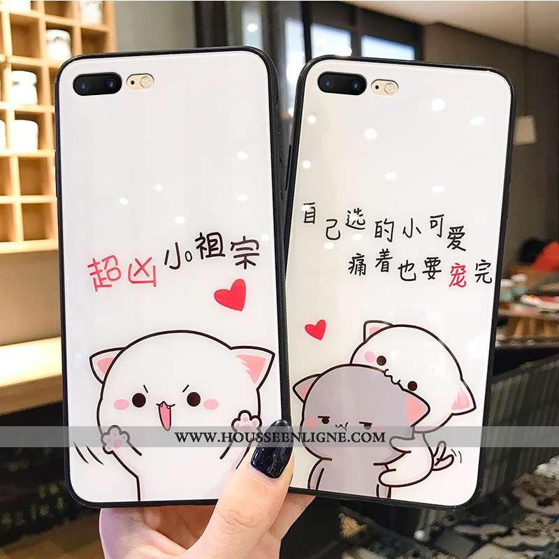 Étui iPhone 8 Plus Dessin Animé Charmant Tendance Net Rouge Créatif Petit Blanc Blanche
