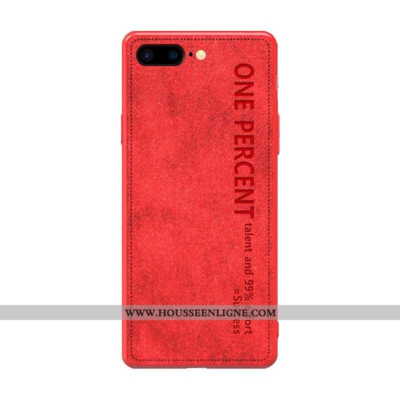Étui iPhone 8 Plus Légère Fluide Doux Légères Art Rouge Luxe Simple