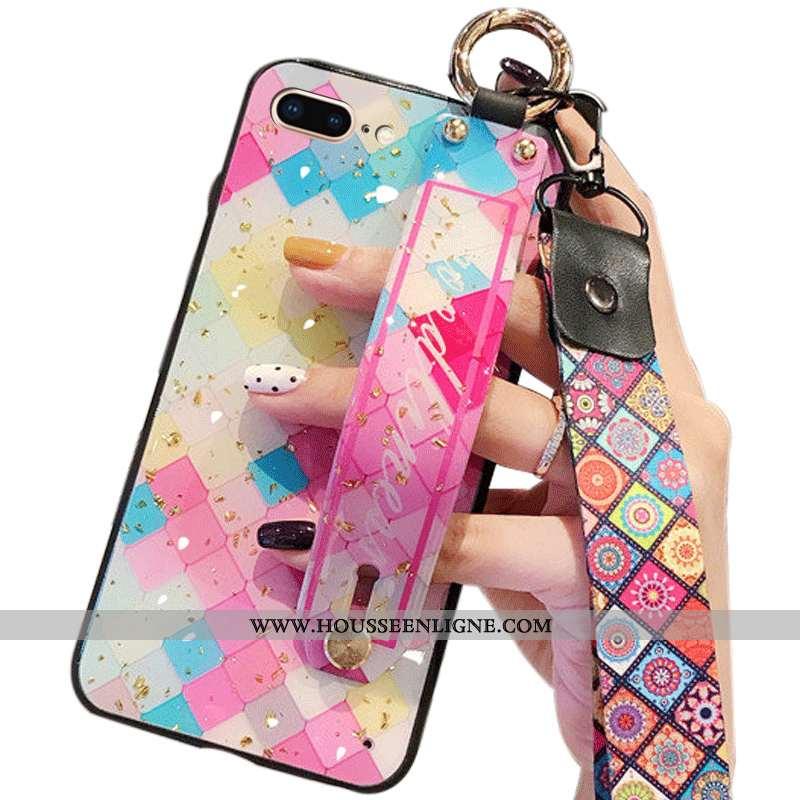 Étui iPhone 8 Plus Ornements Suspendus Multicolore Tout Compris Incassable Coque Téléphone Portable