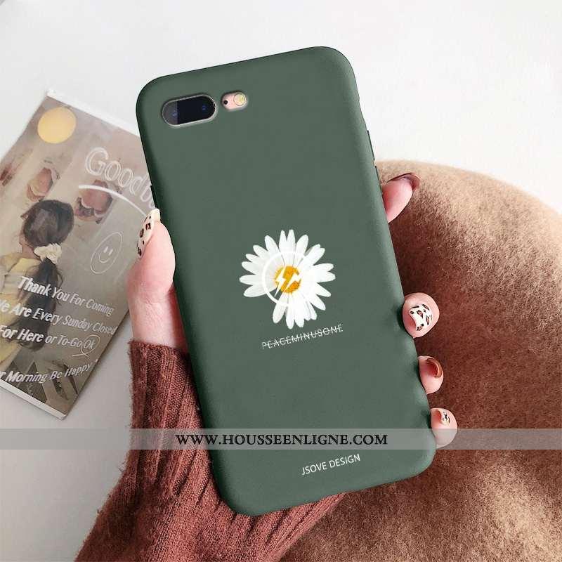 Étui iPhone 8 Plus Ornements Suspendus Personnalité Incassable Silicone Vert Créatif Protection Vert