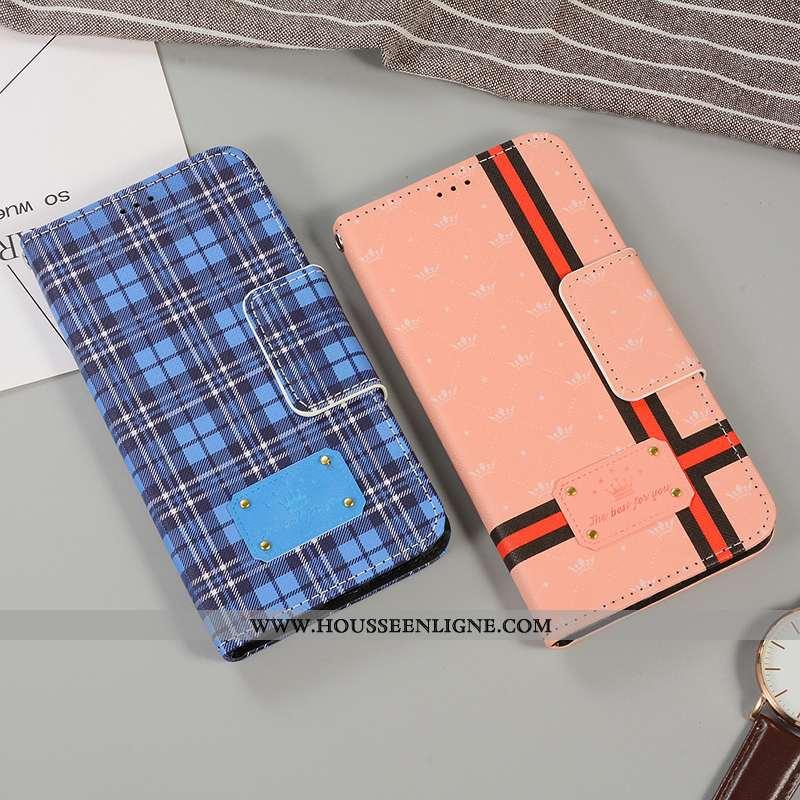 Étui iPhone 8 Plus Silicone Mode Téléphone Portable Élégant Britanique Tendance Simple Bleu
