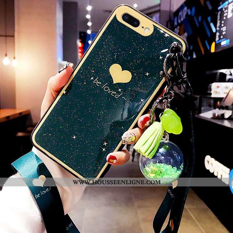 Étui iPhone 8 Plus Tendance Créatif Amoureux Grand Rouge Net Rouge Nouveau Turquoise