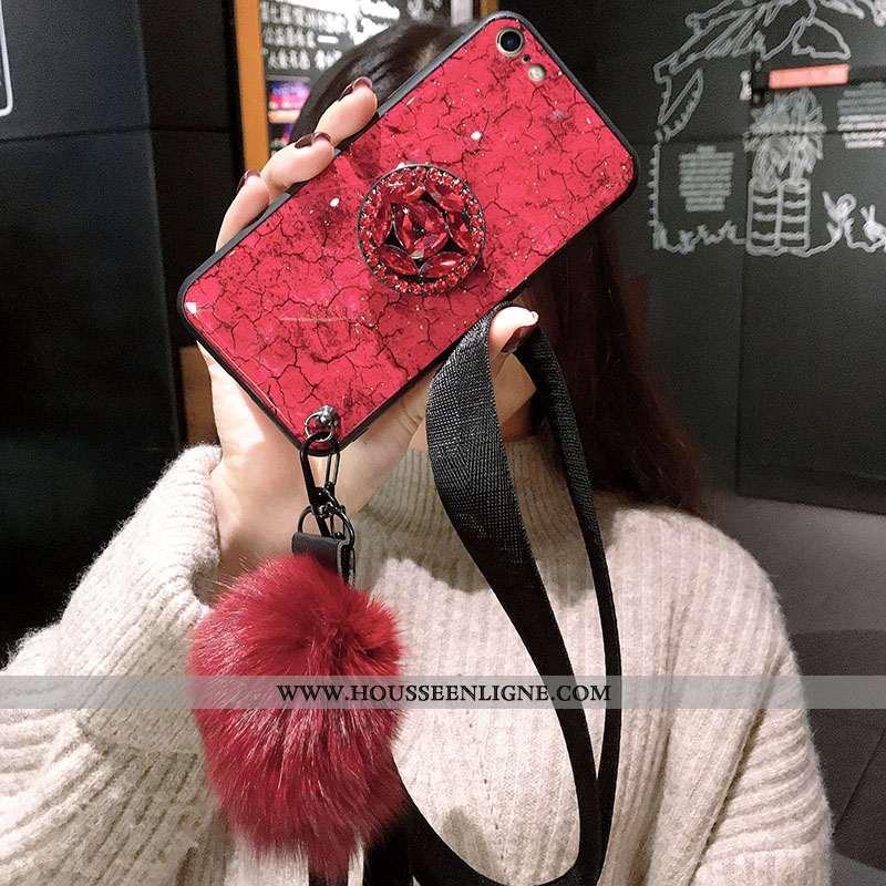Étui iPhone 8 Ultra Tendance Violet Rouge Fluide Doux Protection