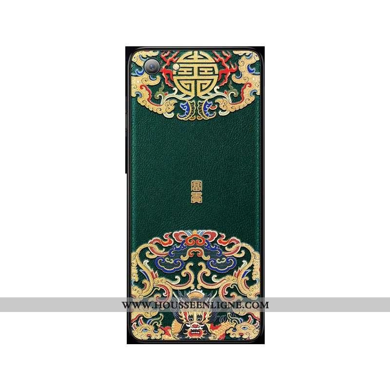 Étui iPhone Se (nouveau) Fluide Doux Protection Vert Style Chinois Téléphone Portable Légère Verte