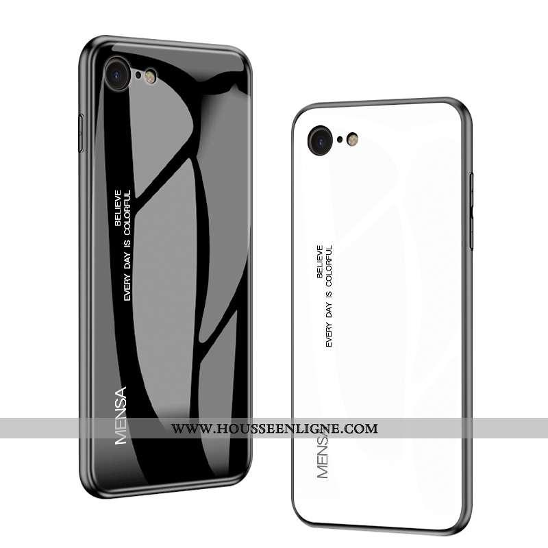 Étui iPhone Se (nouveau) Mode Protection Personnalité Luxe Verre Noir Téléphone Portable