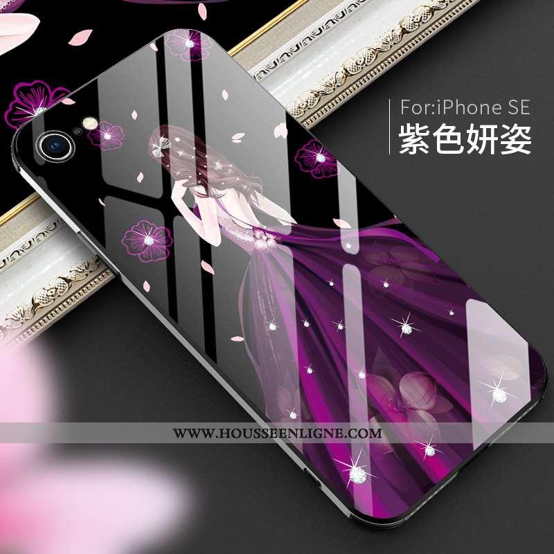 Étui iPhone Se (nouveau) Mode Protection Téléphone Portable Créatif Personnalité Coque Luxe Violet