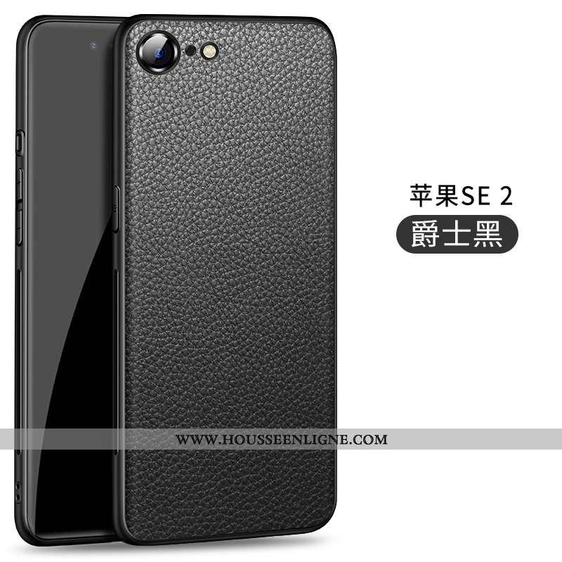 Étui iPhone Se (nouveau) Protection Ultra Silicone Magnétisme Coque Légère Nouveau Noir