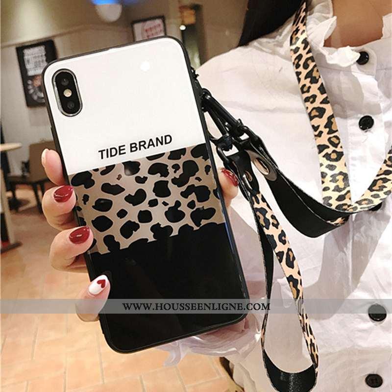 Étui iPhone X Fluide Doux Silicone Protection Net Rouge Téléphone Portable Personnalité Modèle Fleur
