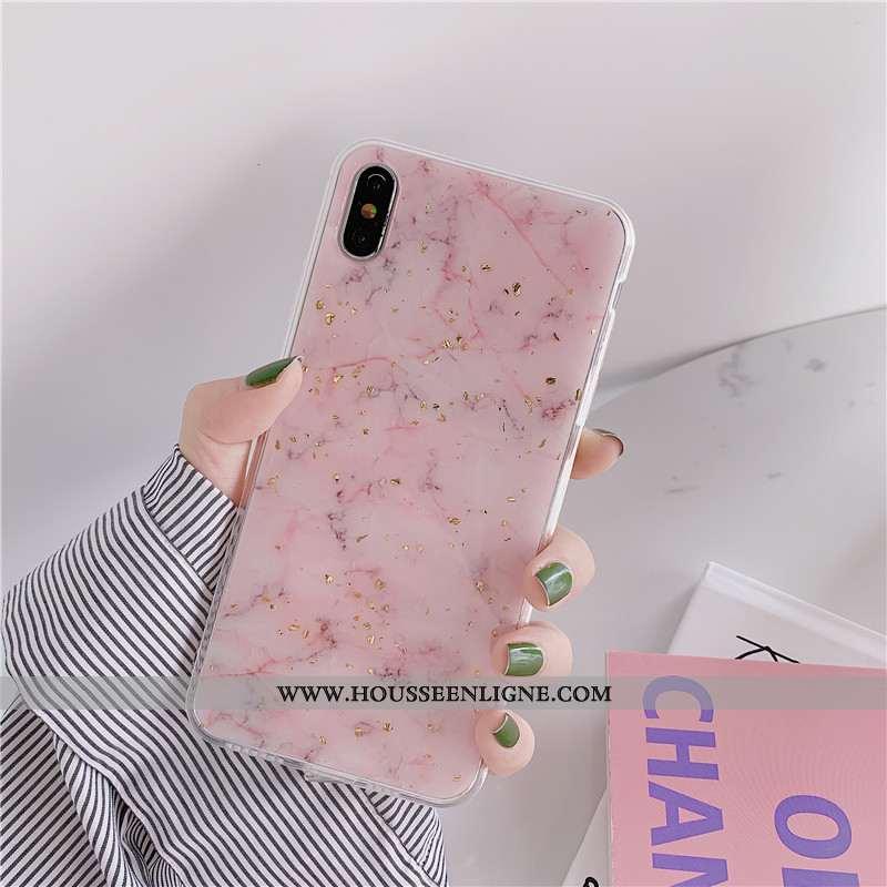 Étui iPhone X Protection Personnalité Or Téléphone Portable Incassable Coque Tout Compris Rose