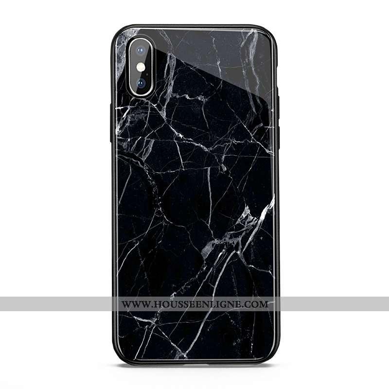 Étui iPhone X Verre Protection Nouveau Blanc Téléphone Portable Coque Grand Noir