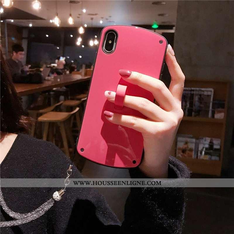 Étui iPhone Xs Fluide Doux Téléphone Portable Rouge Couleur Unie Nouveau Coque Incassable