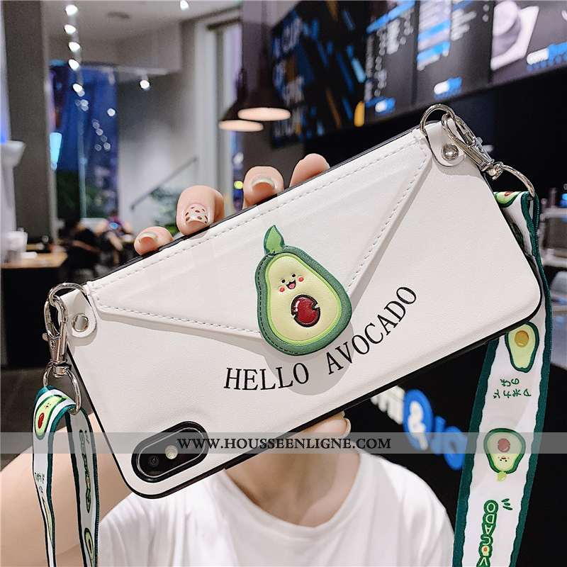 Étui iPhone Xs Max Fluide Doux Ornements Suspendus Téléphone Portable Tout Compris Coque Support Inc