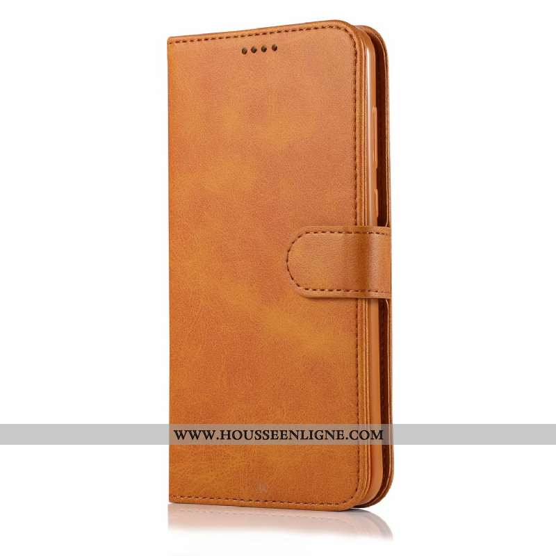 Étui iPhone Xs Max Protection Portefeuille Nouveau Téléphone Portable Cuir Tout Compris Coque Marron