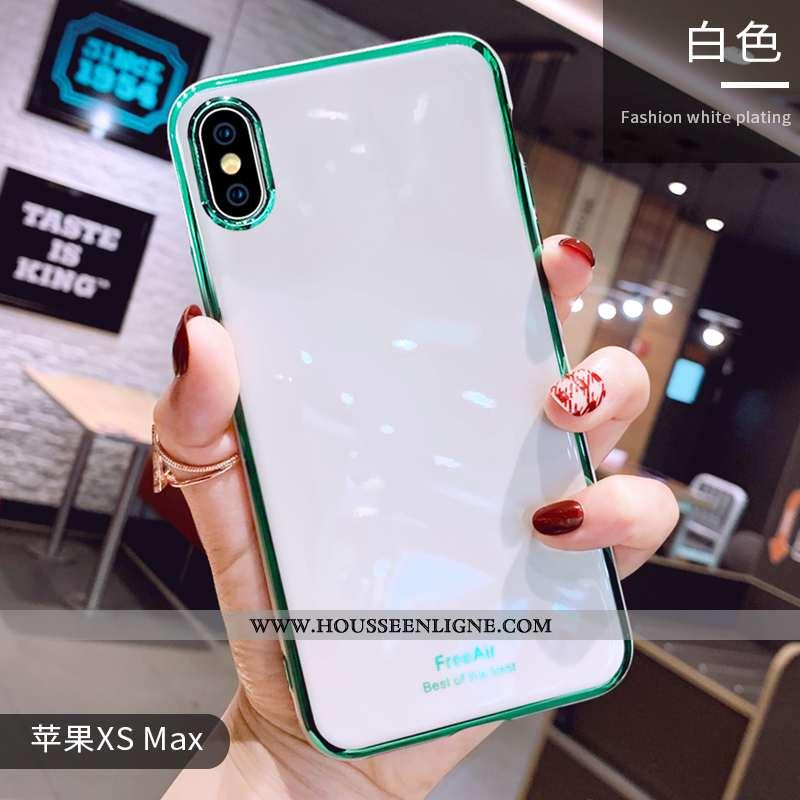 Étui iPhone Xs Max Tendance Légère Fluide Doux Clair Coque Luxe Silicone Blanche