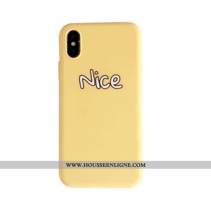 Étui iPhone Xs Protection Délavé En Daim Nouveau Téléphone Portable Incassable Tendance Créatif Jaun